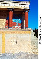 Knossos, Palácio, ruínas, Heraklion, crete,