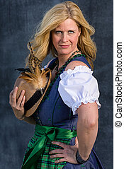 Bavarian Woman in traditional clothing - Beautiful Bavarian...