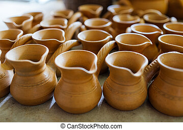 There are many nice terracotta clay pots - There are many...