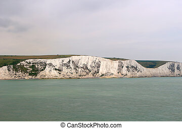 The white cliffs of Dover England - The chalk white cliffs...