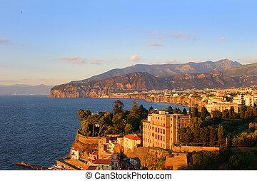 Sunset in Sorrento Italy - Sunset on the rugged Amalfi Coast...