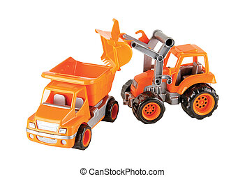 toys - toy truck and dozer construction machinery...