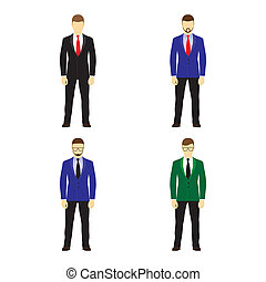 Male figures avatars, icons Business people - Male figures...