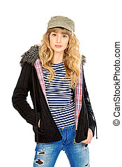 demi clothing - Fashion shot of a modern teenager girl....