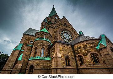 Sofia kyrka, in Sodermalm, Stockholm, Sweden.