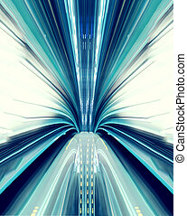 Abstract high-speed technology concept image from the tokyo...