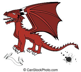 medieval dragon tattoo set2