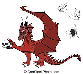 medieval dragon tattoo