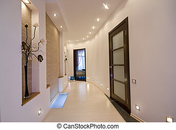 modern interior - modern apartment hall interior photo