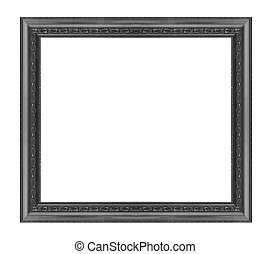 Old Antique black frame Isolated Decorative Carved Wood...