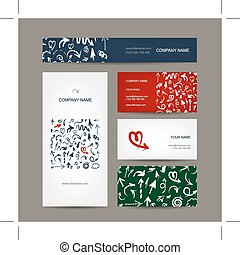 Set of business cards, arrow pattern for your design