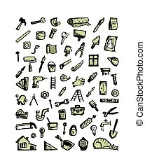 Repair icons, sketch for your design