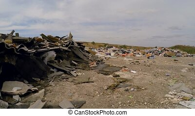 Garbage Dumped Into Heap At Landfill In Ukraine