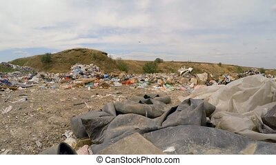 Rubber Tires Among Garbage Dumped Into Heap At Landfill In Ukraine