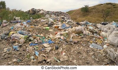 Heap Of Domestic Garbage At Spontaneous Dump At Suburbs In Ukraine