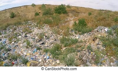 Garbage And Wastes At Spontaneous Landfill At Suburbs In...