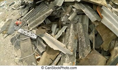 Construction Debris Dumped In A Huge Pile In Ukraine - This...