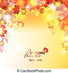 Design autumn vector frame. Natural - Design autumn vector...