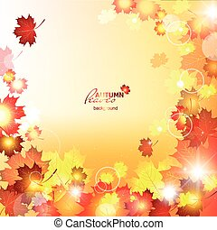 Design autumn vector frame Natural vector vector...