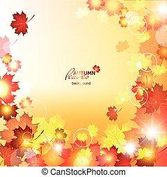 Design autumn vector frame. Natural vector vector...