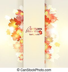Vector illustration of bright Sunny autumn background with...