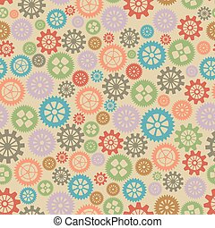 Seamless texture or different gear wheels Vector...