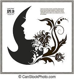 female silhouette. vector images and emblems or spa and beauty salons
