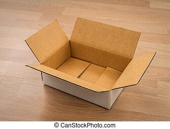 caixa, madeira, papelão