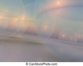 Giant Bubble Background - A soft horizon background with...