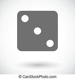 Craps icon - Craps. Single flat icon on white background....