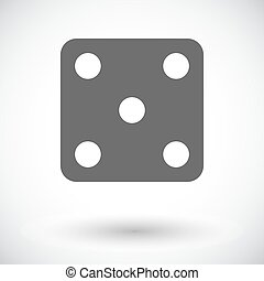 Craps icon - Craps Single flat icon on white background...