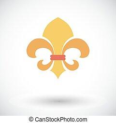 Fleur. Vintage Style. - Fleur. Flat vector icon for mobile...