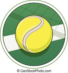 Tennis ball. Eps10 vector illustration. Isolated on white...