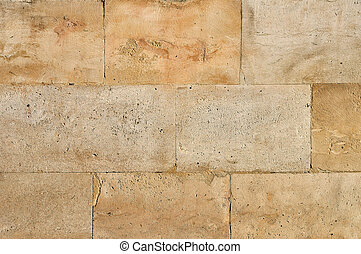 Stone blocks - Old weathered stone tiles wall vintage...