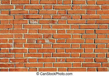 Brick wall - Weathered aged red brick wall vintage...