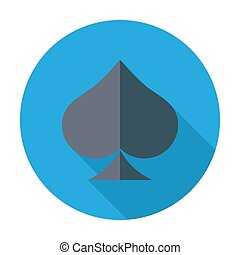 Card suit - Spades Flat vector icon for mobile and web...