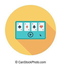 Video game. Flat vector icon for mobile and web...