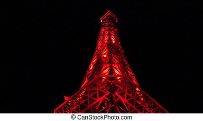 A copy of the Eiffel tower. Varna. Golden Sands. Resort in Bulgaria.
