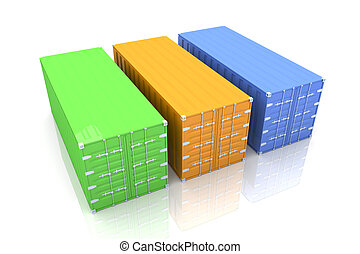Container - 3D rendered Illustration.