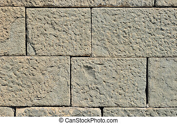 Stone blocks wall - Old weathered stone blocks wall vintage...