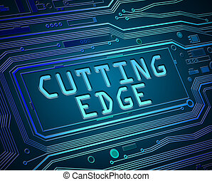 Cutting edge concept. - Abstract style illustration...