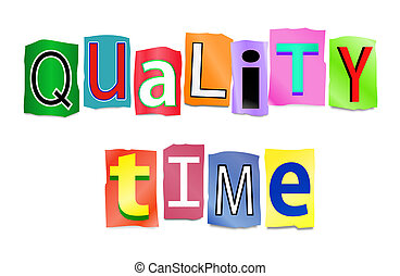 Quality time concept. - Illustration depicting a set of cut...