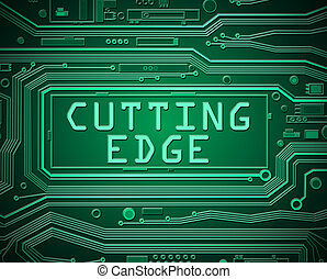 Cutting edge concept - Abstract style illustration depicting...