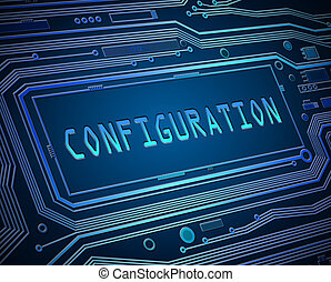 Configuration concept. - Abstract style illustration...