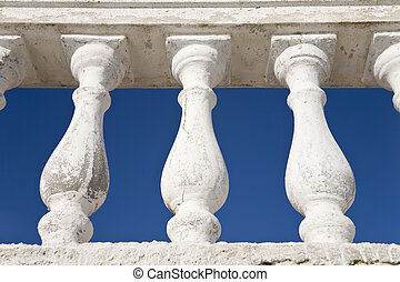 Balustrade - Low angle view of a balustrade against the blue...