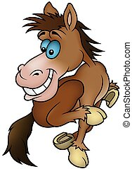 Running Horse- cartoon illustration