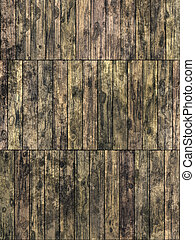 Wooden planks - Abstract generated dirty weathered wooden...
