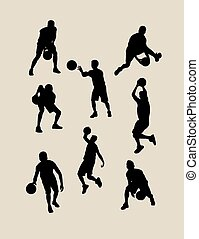 Male Basketball Silhouettes