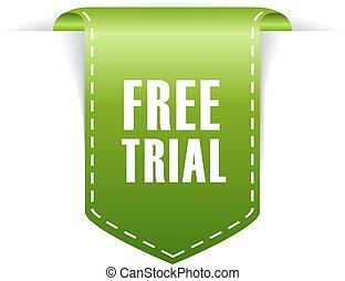Free trial tag