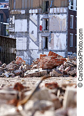 Demolition of residential district Crooswijk in Rotterdam,...
